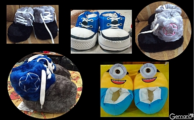 Gemanti ��Peque�as Pantuflas Sublimadas y de Piel!!
